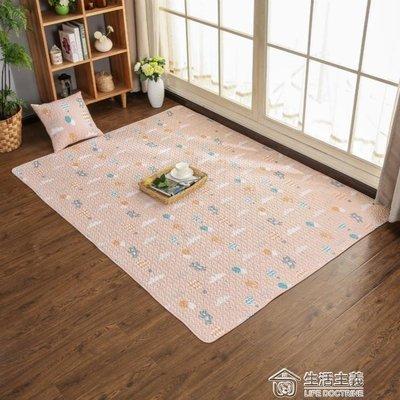 北歐簡約全棉滿鋪爬行榻榻米地墊兒童臥室地毯床邊墊可機洗可 mks