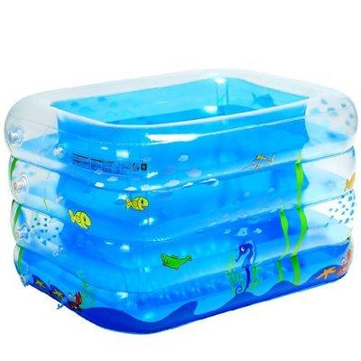 5Cgo 【批發】含稅會員有優惠 15323513673 充氣游泳池 加厚超大嬰兒遊泳池寶寶遊泳池方形泳池新生兒