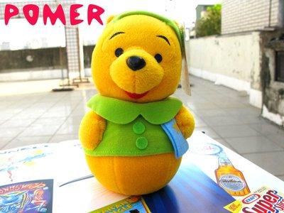 ☆POMER☆日本限定景品SEGA絕版正品 迪士尼 Winnie 小熊維尼 俄羅斯娃娃不倒翁造型 鈴鐺手搖鈴嬰兒玩偶