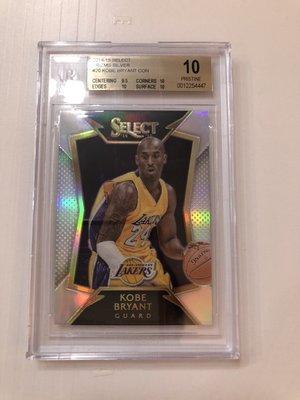 2014-15 NBA Panini Select Kobe Bryant Silver 銀亮卡 BGS鑑定10級