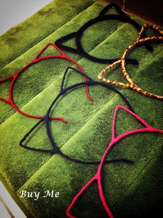 Buy Me 韓國新款可愛貓耳朵發箍 頭飾小惡魔貓頭髮箍  多種顏色 現貨+預購
