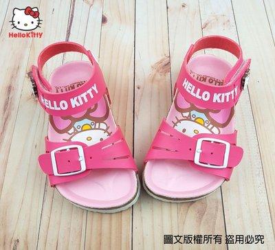 【琪琪的店】三麗鷗 HELLO KITTY 凱蒂貓 童鞋 女童 拖鞋 休閒鞋 涼鞋 勃肯鞋  桃紅 818132