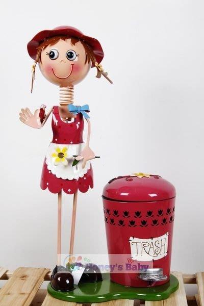 606 歐式鄉村漂亮實用 大號多用高桶/雨傘桶 鐵皮娃娃 玫紅色俏妞 限量特惠