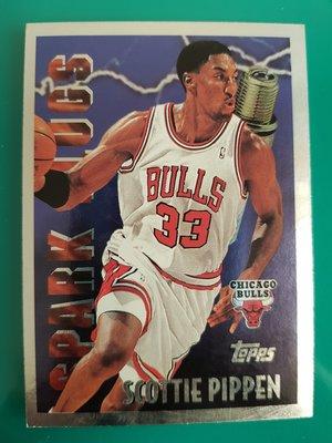 【球員卡】95-96 Topps Spark Plugs 特卡 Scottie Pippen 蝙蝠俠 公牛王朝