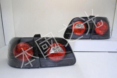 oo本國之光oo 全新 本田 HONDA 1999 2000 六代喜美 K8 JM 4D 4門 黑底紅心圓 尾燈 台製