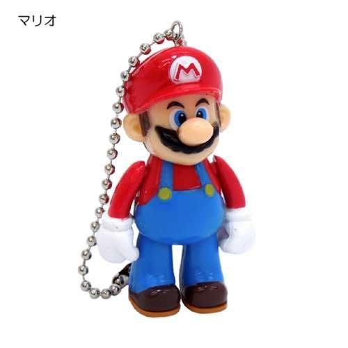 (I LOVE樂多)日本輸入Mario Bros(瑪利歐兄弟)瑪利歐 手腳可動珠鍊吊飾