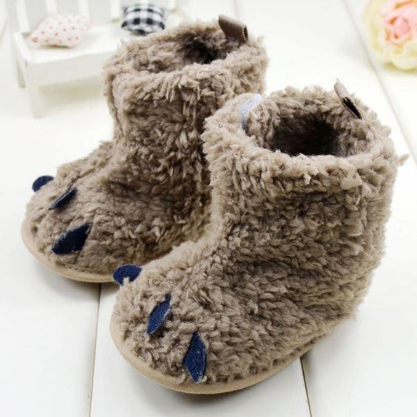 森林寶貝屋~怪獸爪子雪靴~學步鞋~保暖鞋~寶寶鞋~嬰兒鞋~童鞋~學走鞋~保暖舒適~彌月贈禮~特價1雙135元