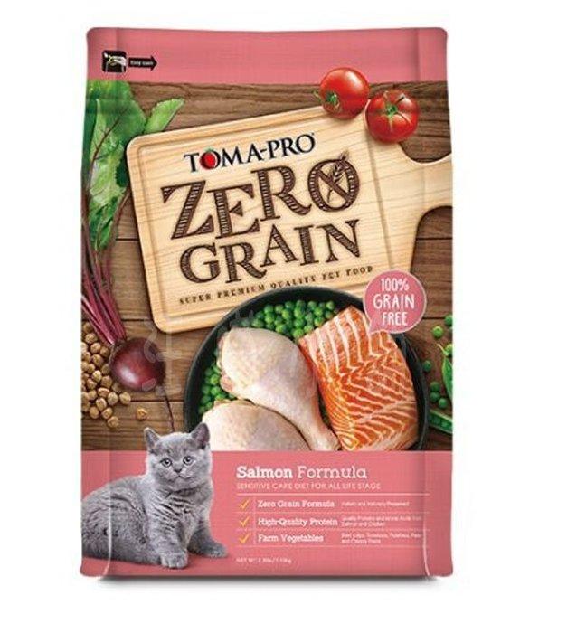 ☆汪喵小舖2店☆ 優格零穀類天然食譜 全貓鮭魚敏感配方2.5磅 // 100%不含致敏穀源