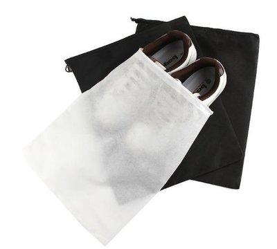 純色無紡布鞋子收納袋 / 旅行抽繩防塵 / 鞋袋束口鞋靴罩 5元
