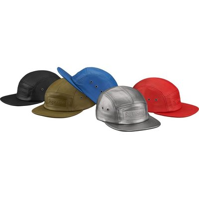 【美國鞋校】預購 SUPREME SS19 Pebbled Leather Camp Cap 五分帽