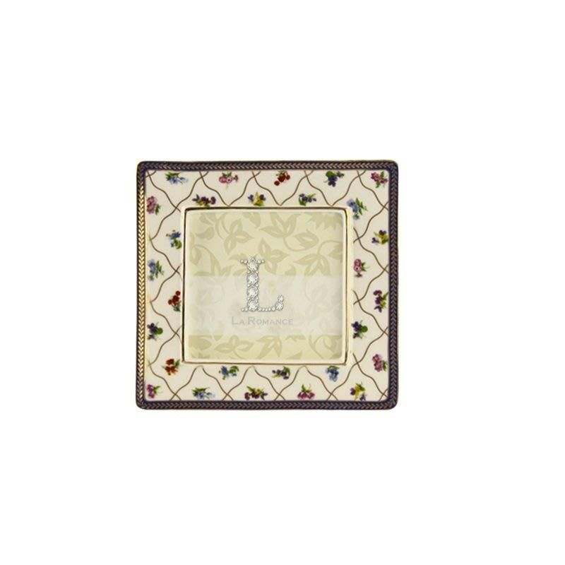 【芮洛蔓 La Romance】帝凡內系列 - 儷影 4 x 4 方形相 / 新骨瓷相框 / 生日、畢業禮品