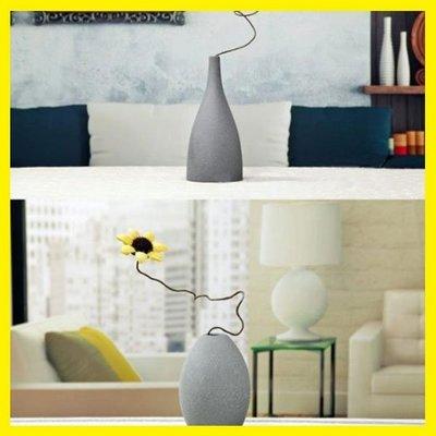 店長嚴選北歐地中海歐式磨砂釉陶瓷灰黑藍色花瓶現代簡約裝飾軟裝擺件