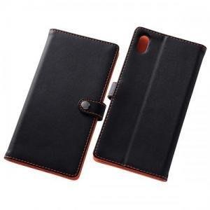 尼德斯Nydus~* 日本正版 Sony Xperia Z5P 手機殼 可立式 翻頁皮套 z5 premium -黑