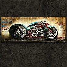 原木板摩托車創意牆上裝飾品壁掛件掛畫loft工業風酒吧(兩款可選)