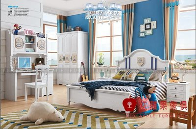 [ 紅蘋果傢俱 ] LOD-8820  兒童家具 兒童床 單人床 造型床 王子床 雙人床 床組 床架 數千坪展示