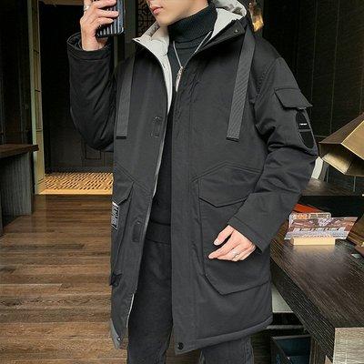 冬季保暖抗寒羽絨服男士冬季外套2020年新款韓版潮流港風保暖中長款日系羽絨服