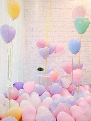 婚禮裝飾ins婚房布置馬卡龍色氣球 兒童多款可愛空飄氣球網紅用品