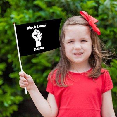 10PCS BLACK LIVES MATTER Hand Flag Supplies 14*21cm薄荷の小鋪TRD65