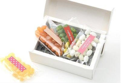 Amy烘焙網:一張24貼/韓國紅色愛心/黑白感謝鋸齒狀封口貼/包裝袋裝飾貼/標籤式貼紙