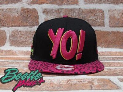 BEETLE PLUS  全新 NEW ERA MTV X RAPS YO! 桃紅 黑 豹紋 草寫字 電繡 後扣棒球帽 NBA SNAPBACK NESS