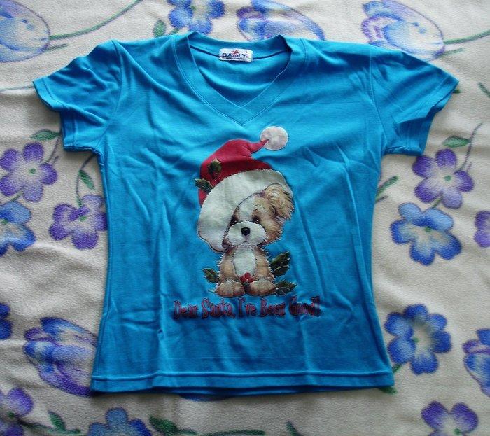T恤-可愛的聖誕狗-加路立Galuly 短T恤--DSC03422