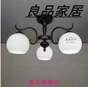 【易生發商行】歐式三頭鐵藝吊燈田園客廳燈餐廳燈臥室燈簡約吸頂燈BDD-3T015F6404