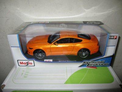 1風火輪多美美捷輪Maisto橘1/ 18合金車福特2015 Ford Mustang GT野馬1:18跑車八佰五一元起標 新北市