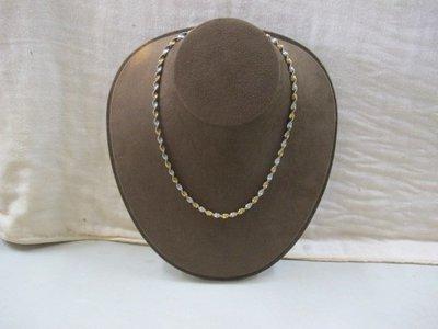 二手舖 NO.2765 純銀925雙色項鍊 水波鍊 首飾飾品