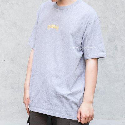 【QUEST】SUPREME FRONTS TEE 19SS 金牙 鑲鑽 短袖 上衣 短T 灰色 小LOGO