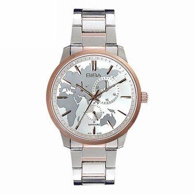 [時間達人]法國 BIBA 碧寶錶 絕色系列 三眼錶 藍寶石玻璃石英錶 B752S104W 白色-45mm 高雄市