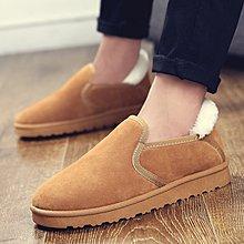特價促銷 冬季新款男士雪地靴低幫保暖棉鞋舒適百搭潮靴套腳加毛靴子
