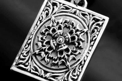 【創銀坊】不動明王 金剛杵 925純銀 墜子 密宗 法器 天珠 綠度母 白度母 佛牌 佛珠 念珠 項鍊 (P-9304)