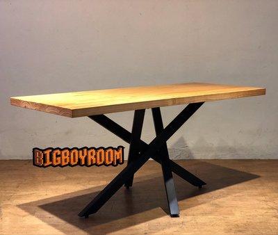 【BIgBoyRoom】工業風家具 實木鐵製樹枝造型餐桌 客製化LOFT美式復古桌子書桌 工作桌攝影道具 酒吧飯店大廳