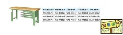 [家事達]台灣 TANKO-WAS-54031W 吊櫃型重量型工作桌-原木桌板 特價