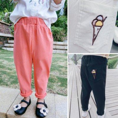 ♥【GK0152CK-8719】韓版女童裝糖果色牛津長褲 3色 (粉色 現貨) ♥