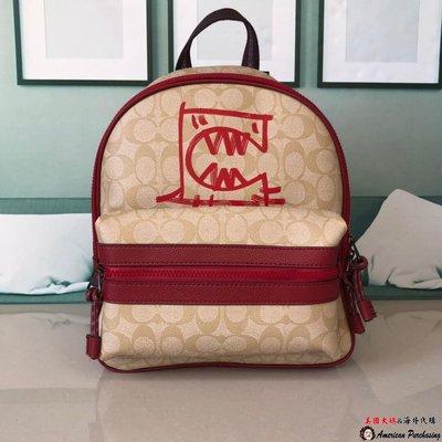 美國大媽代購COACH 1509 標誌REXYBYGUANG YU圖案 後背包 顏色3 美國代購