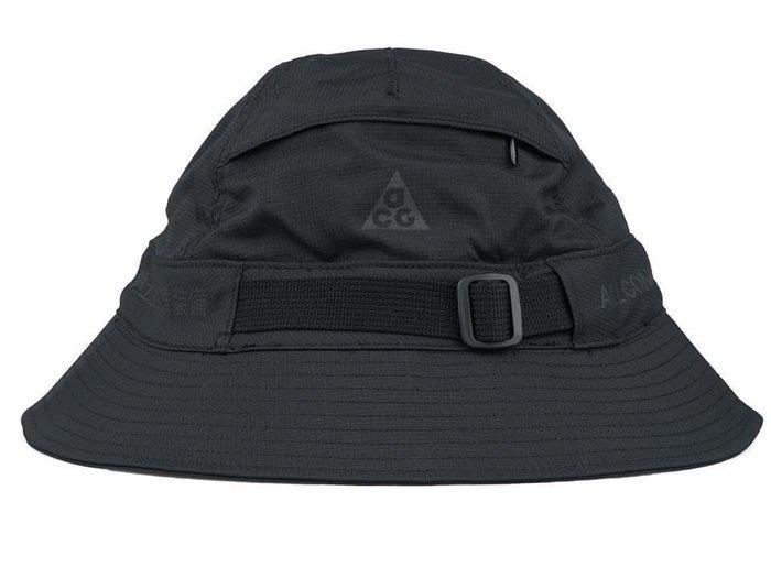 全新 NIKE ACG Bucket Hat 全黑 漁夫帽  絕版~~