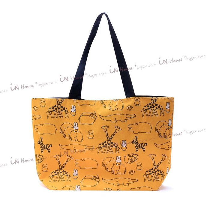 IN House* 🇹🇼現貨 日本集點贈品 動物園 米菲兔 抽繩 托特包 收納袋 單肩包 手提袋 購物袋 環保袋