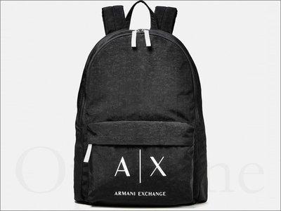 美國官網真品 AX 阿曼尼 A|X Armani Exchange 黑色 防水 肩背包 拉鍊 後背包 男女適用