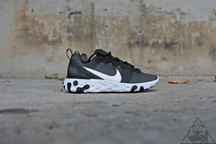 【HYDRA】Nike Wmns React Element 55 黑白 運動 休閒鞋 【BQ2728-003】