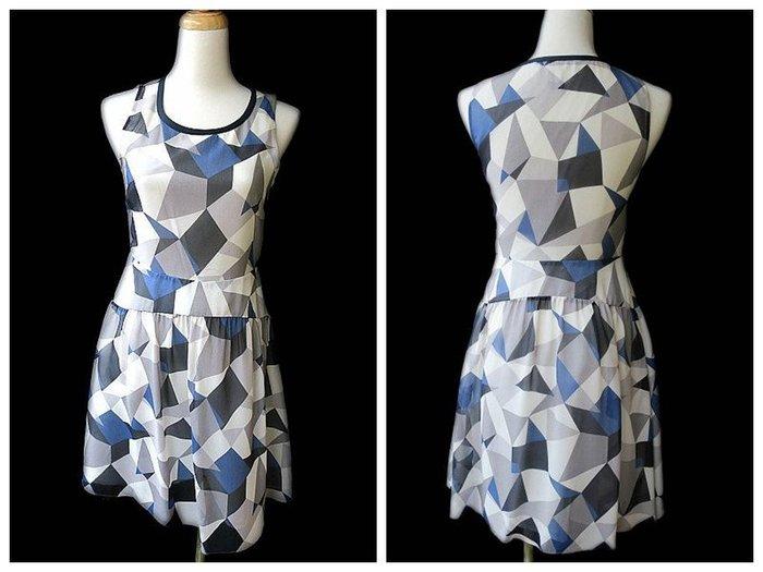 *Beauty*MARC JACOBS藍色幾何圖背心洋裝WE16