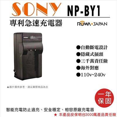 無敵兔@樂華 Sony NP-BY1 快速充電器 NPBY1 副廠壁充式座充 1年保固 索尼HDR-AZ1 自動斷電