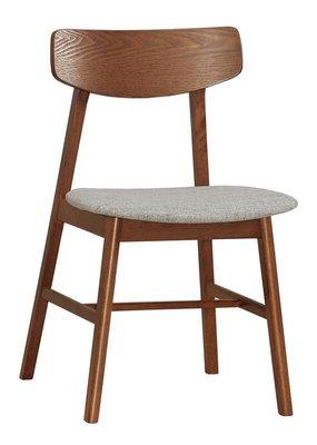 【風禾家具】FQM-1060-12@MBL曲木胡桃色布墊餐椅【台中1600送到家】休閒椅 書椅 棉麻布+實木腳座 傢俱 台中市