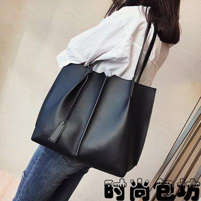 【時尚包坊】大包包女新款單肩包中包歐美時尚子母包簡約百搭大容量手提包