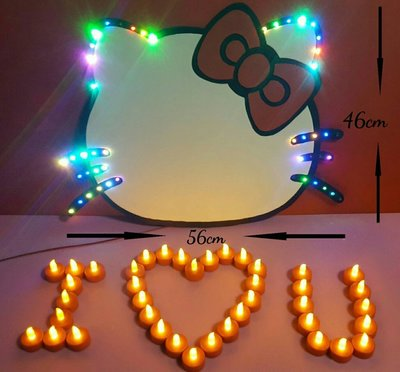 LED手工發光貓珍珠板1500元--可以訂購任何圖案