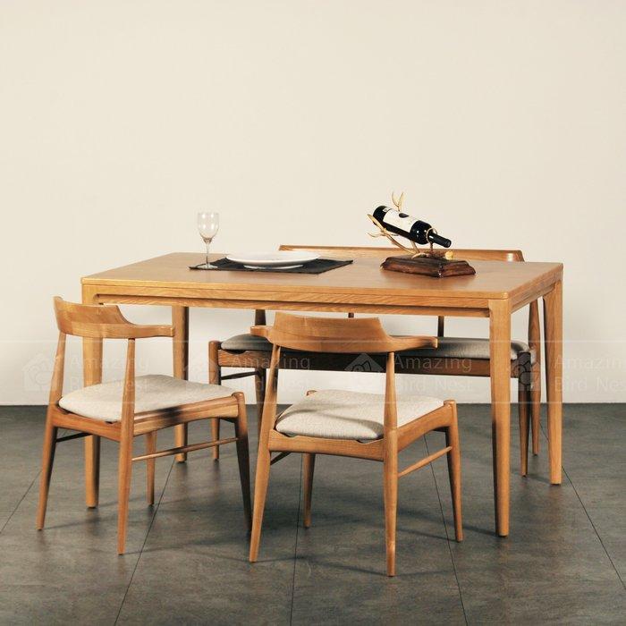 【酷鳥窩】北歐實木餐桌椅組