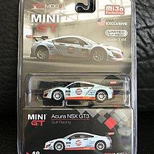 全新未開 Tiny Mini GT 1/64 Acura NSX GT3 Gulf Racing 全球限量4800部