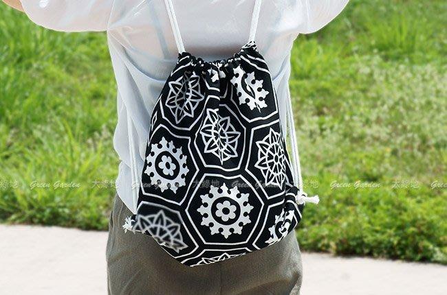 ◎ 【大綠地家具】後背包 斜背包 防潑水布 【手工精緻後背包】含拉鍊內袋 ◎