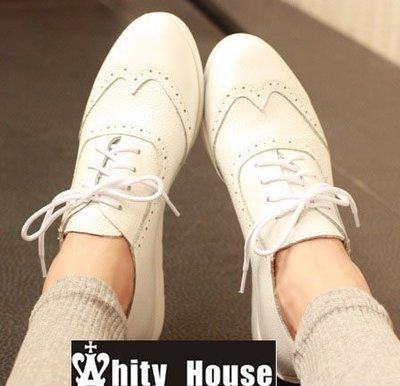 =WHITY=韓國GRAMMI品牌 韓國製  歐美明星街頭舒適真皮小厚底牛津鞋  好穿  S4DCC26