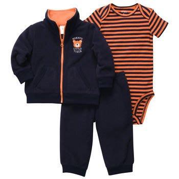 【安琪拉 美國童裝】Carter's小老虎三件式套裝 – 刷毛外套+包屁衣+長褲 Gymboree/Oshkosh